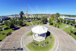 Foto aérea de la glorieta de la Plaza Constitución
